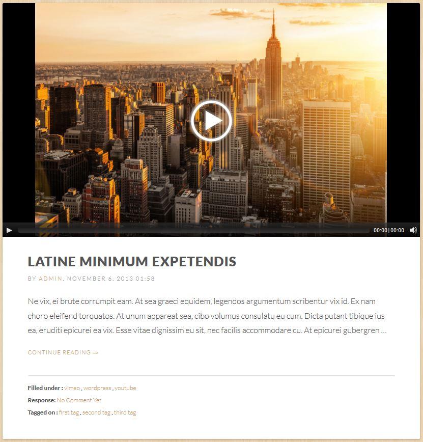 Blog Format - HTML 5 Video