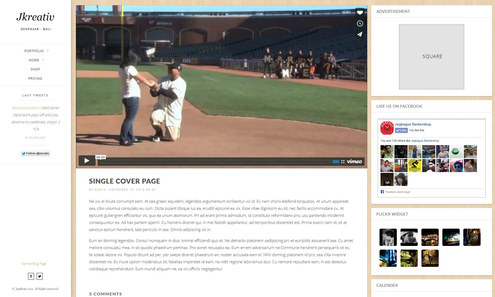 Cover Page with Inline Featured Content
