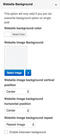 Customizer - Website Background
