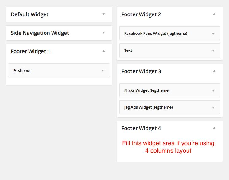 Footer WIdget