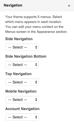 Manage Menu Location