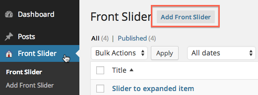 Add New Front Slider Item