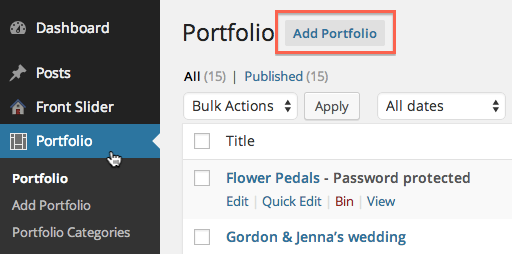 Add New Portfolio Item