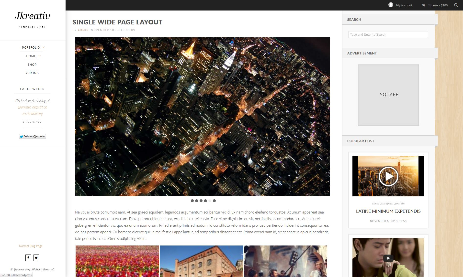 Wide Page Layout