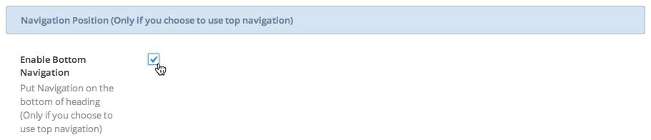 Enable Bottom Navigation Position