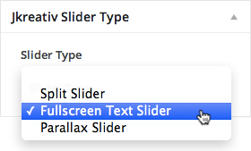 Fullscreen Text Slider