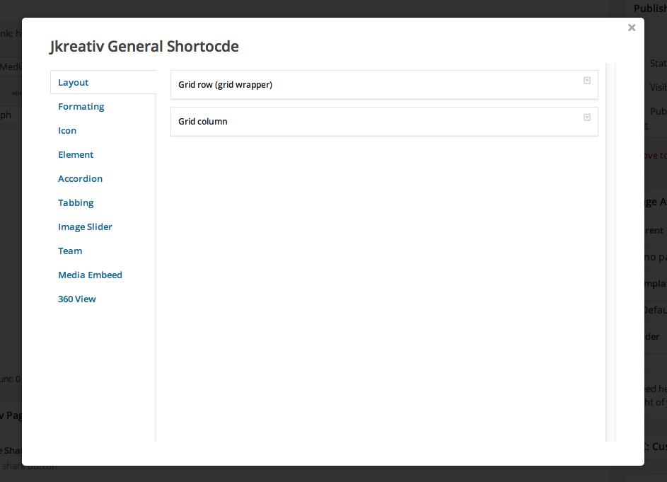 General Shortcode List