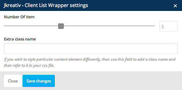 JKreativ - Client List Wrapper Settings