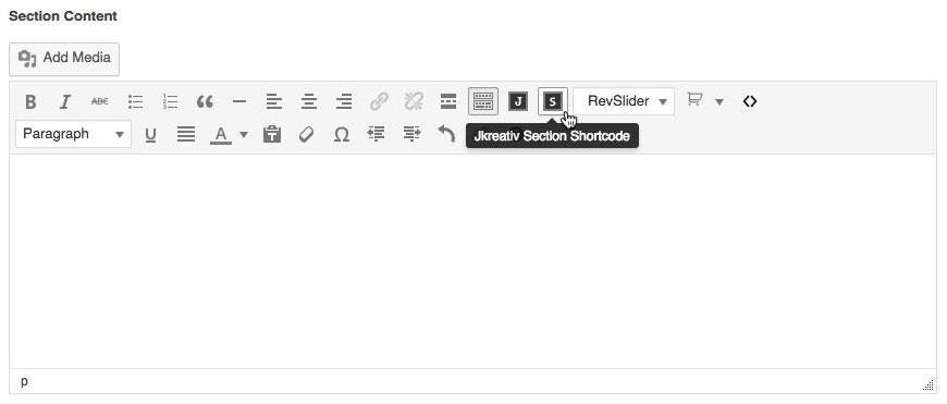 JKreativ Section Shortcode