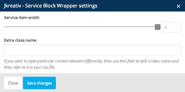 JKreativ - Service Block Wrapper Settings