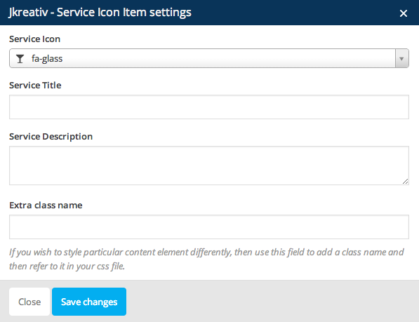 JKreativ - Service Icon Item Settings