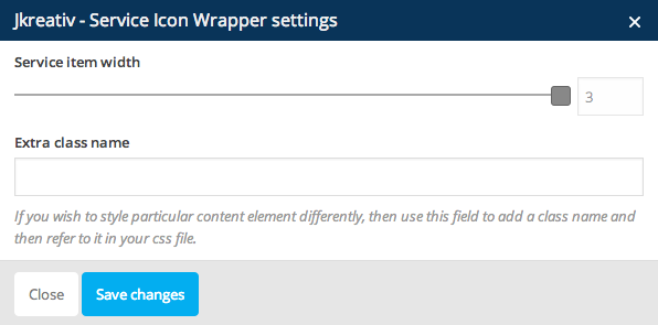 JKreativ - Service Icon Wrapper Settings