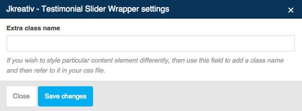 JKreativ - Testimonial Slider Wrapper Settings