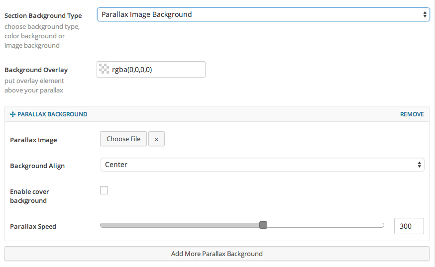 Parallax Image Background - Legacy Section Builder