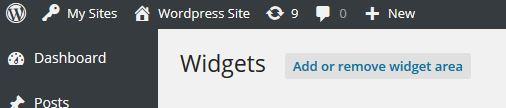 Add or Remove Widget