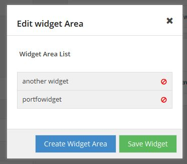 Edit Widget Area