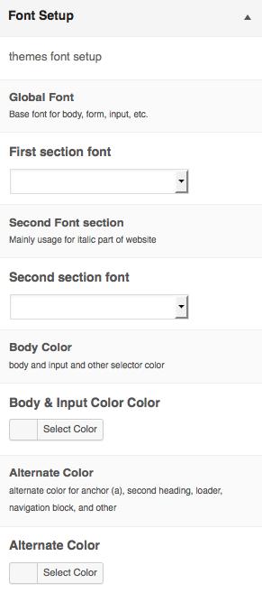 Font Setup