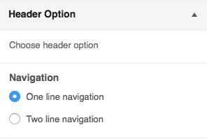 Header Navigation