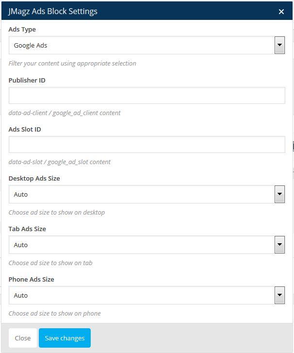 Jmagz Google Ads Block
