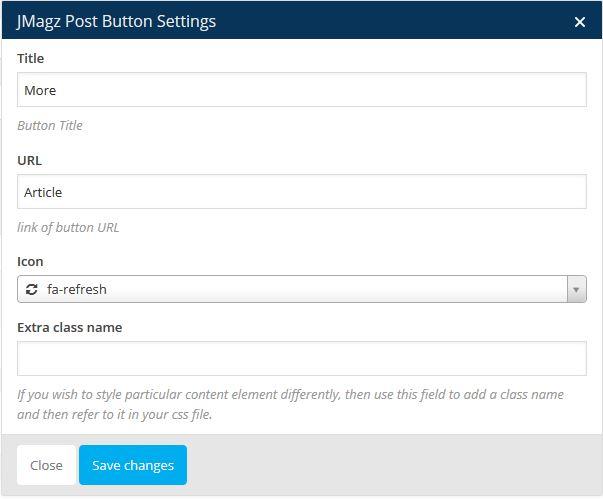 Jmagz Post Button Setting