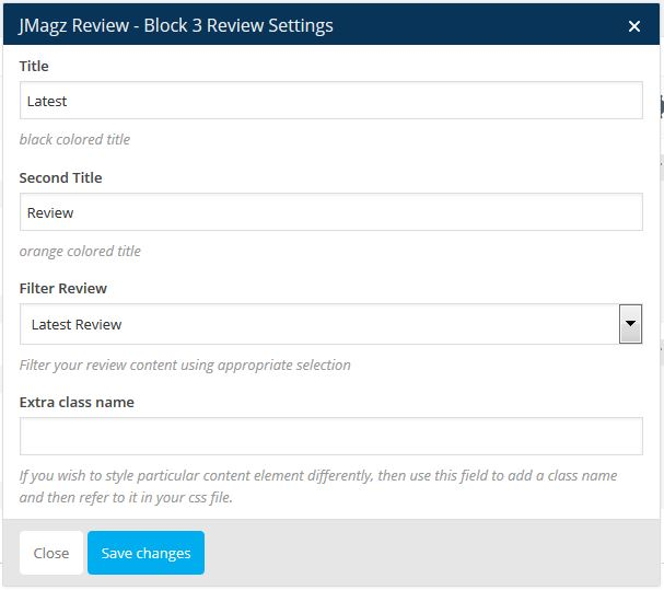 Jmagz Review Block 3 Review Setting