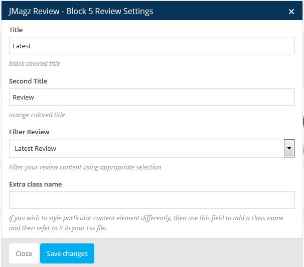 Jmagz Review Block 5 Review Setting