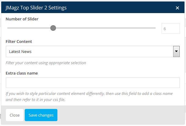 Jmagz Top Slider 2 Settings