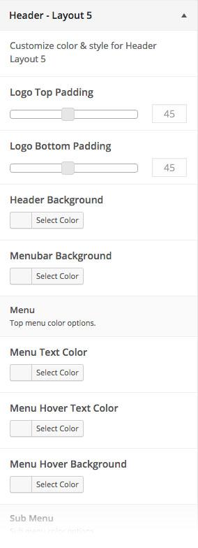 Customizer Header Layout 5