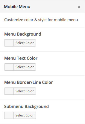 Customizer Mobile Menu