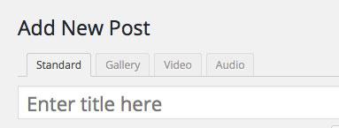 Post types