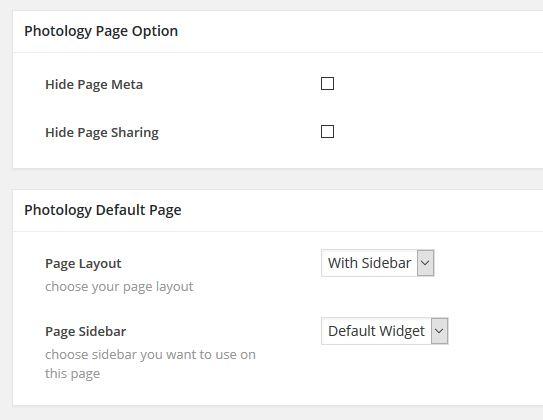 Photology Default Template Metabox