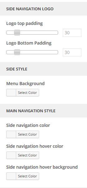 Side Navigation Color