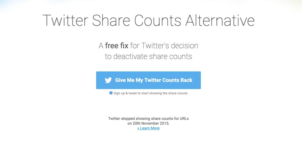 Twitter Share Counts Alternative